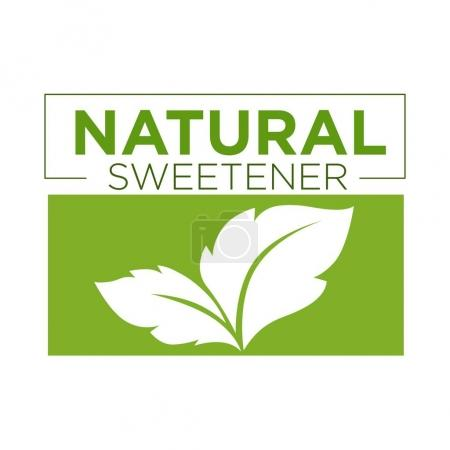 Natural sweetener green symbol of stevia or sweet grass logo
