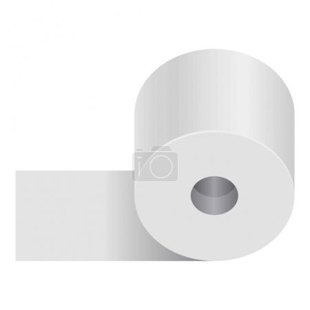 Realistic rolled toilet and towel paper poster on white