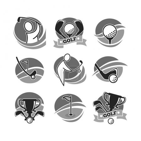 Golf game logotypes