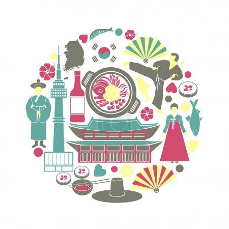Korean colorful poster