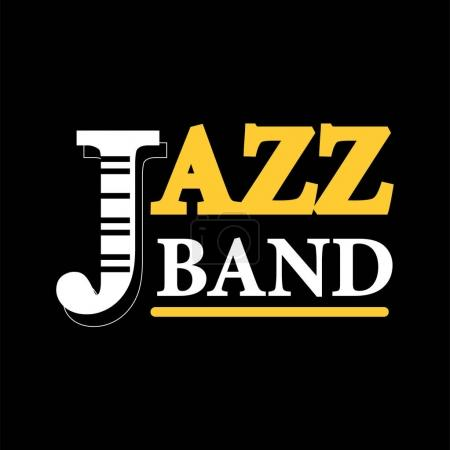 Jazz concert logo label