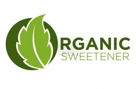 Organic sweetener green symbol of stevia