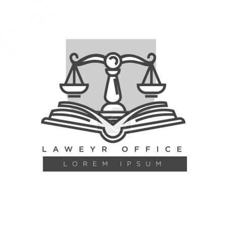 Lawyer office colorless logo label