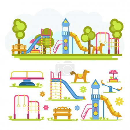 Full playground and separate elements