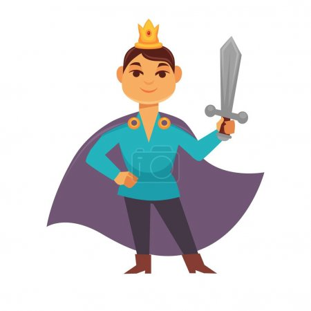Prince fairytale cartoon character