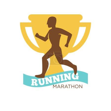 Running marathon man