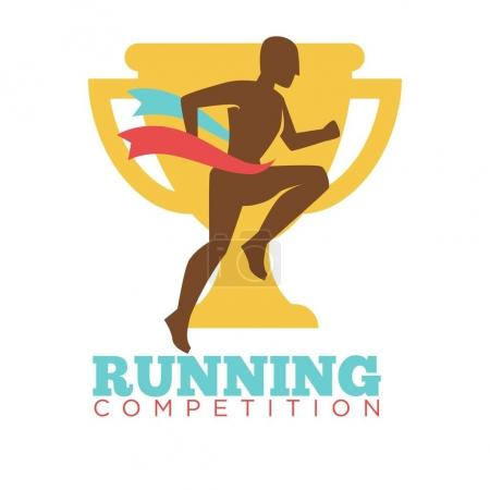 Running competition man