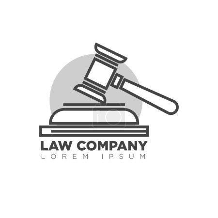 Law company office monochrome logotype