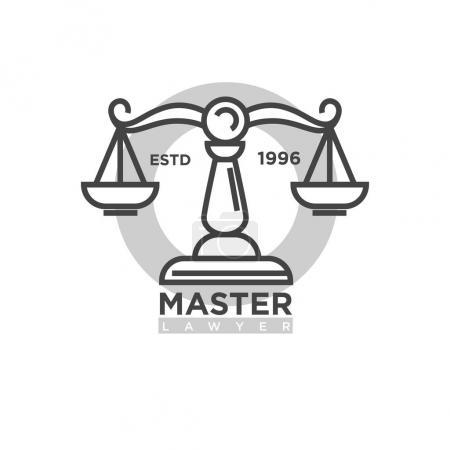 Master lawyer organization emblem