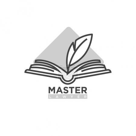 Master lawyer company logotype
