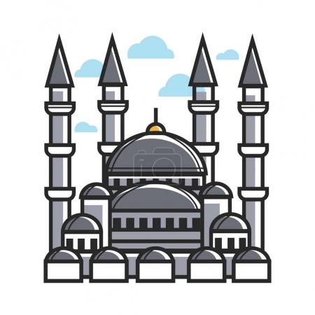 Turkey symbol mosque for culture