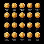 Popular crypto coins set