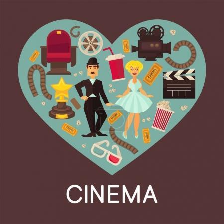 Коммерческое кино баннер с кинематографической