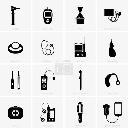 Illustration for Set of home medical equipment - Royalty Free Image