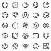 Set of fine gems icons