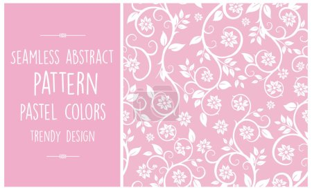 Illustration for Seamless abstract pattern trendy pastel colors simple fashion trend - Royalty Free Image
