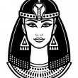 Animation portrait of the beautiful Egyptian woman...