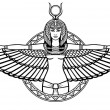 Animation portrait of the ancient Egyptian winged ...