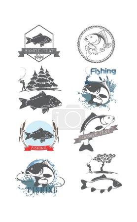 Carp fish for logos