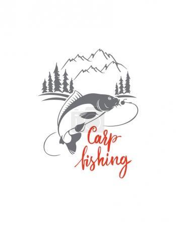 Carp fish for logo