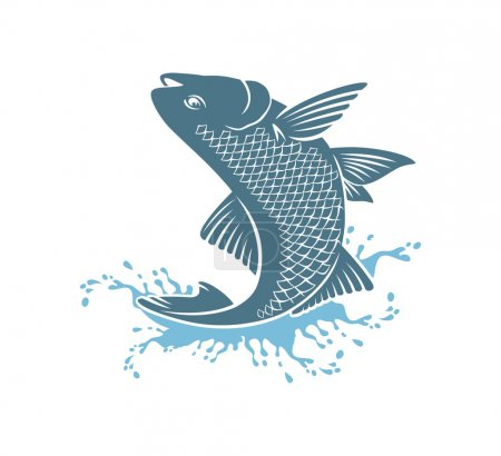 Salmon fish for logo
