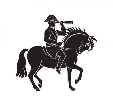 Napoleon sitting on horse