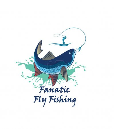 Fly fish for logo