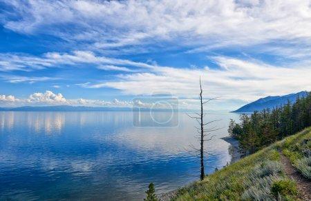 Baikal landscape Deep blue lake