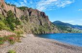 Baikal. Massive rock