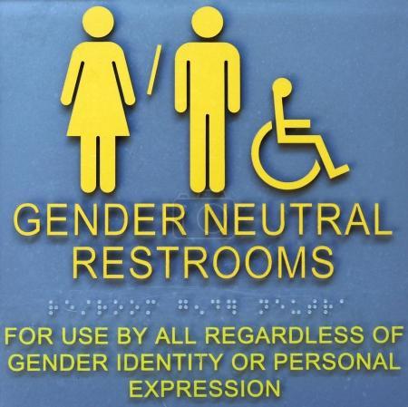 Photo pour Portes de salle de bain très communes dans de nombreuses parties de l'Amérique et au-delà - image libre de droit