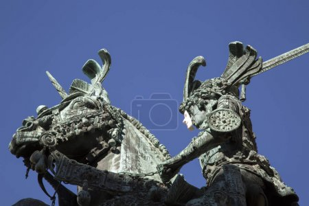 Saint George and the Dragon Statue - Bronze Copy by Meyer, Gamla