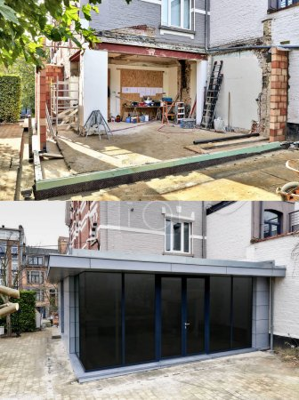 Construction of a New modern extension