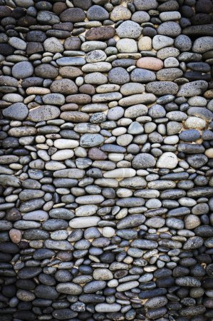 Photo for Small round stone wall texture - Royalty Free Image