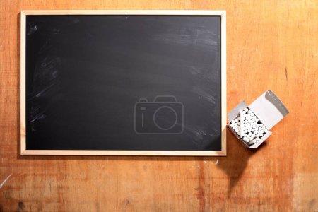 white chalks and blackboard