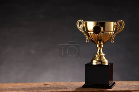 sports trophy on table