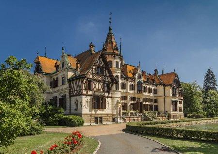 The castle of Lesna in Zlín Czech Republic