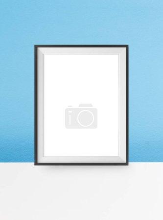 Photo pour Image de scène de maquette affiche simple trame. - image libre de droit