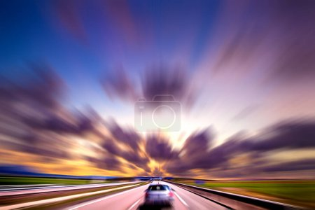 Photo for Car speed concept.Travel and travel - Royalty Free Image