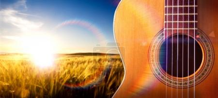 Photo for Spanish guitar and music background.Spanish culture - Royalty Free Image