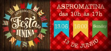 Festa Junina illustration traditional