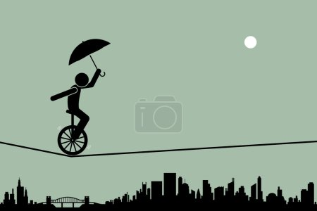 Vector artworks depicts risk, danger, and circus s...
