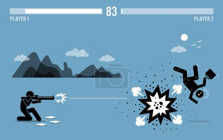 Destroying business competitor with a bazooka.