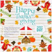 Den díkůvzdání kartu