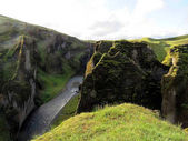 Iceland beautiful landscape of the Fjadrargljufur Canyon 2017