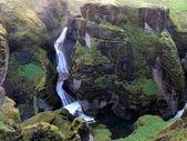 Iceland the landscape of Fjadrargljufur Canyon 2017