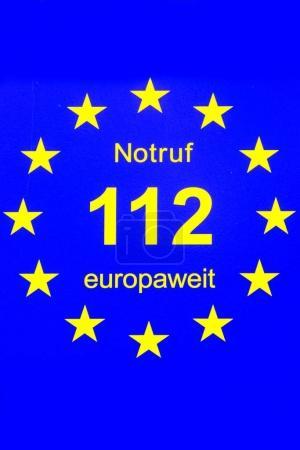 europaeische notrufnummer 112 feuerwehr und krankenwagen