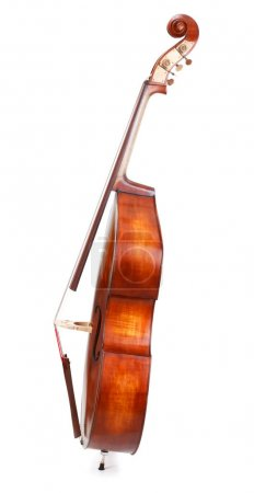 Photo for Side view of a double bass on white background - Royalty Free Image