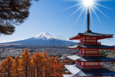 Mt.Fuji viewed from Chureito Pagoda