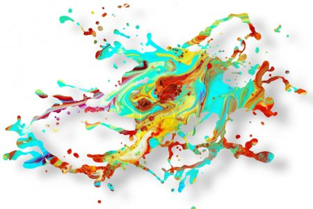 Abstract acrylic paint splash background