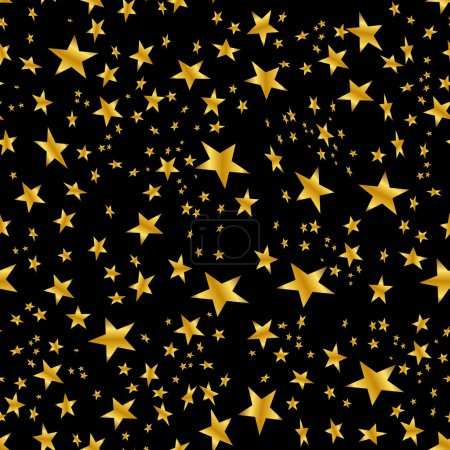 Gold Star Confetti Pattern